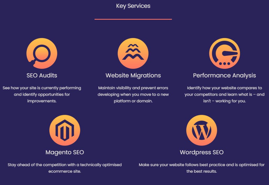 Key Services on Home Page
