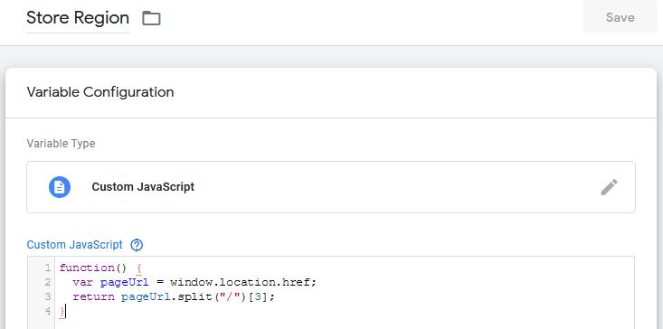 Custom JavaScript variable