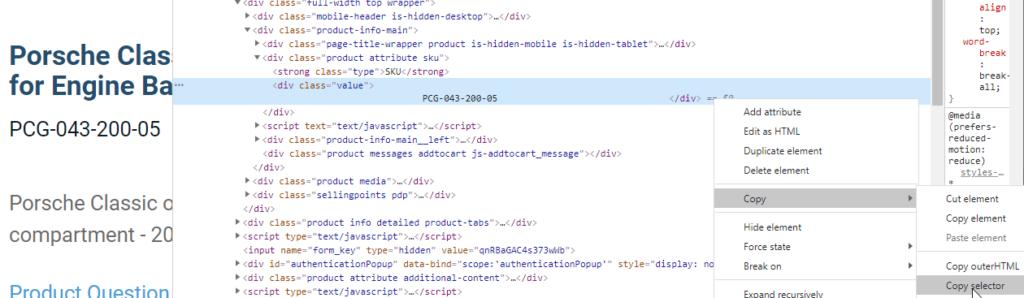 inspect html