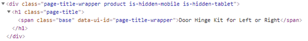 page title wrapper